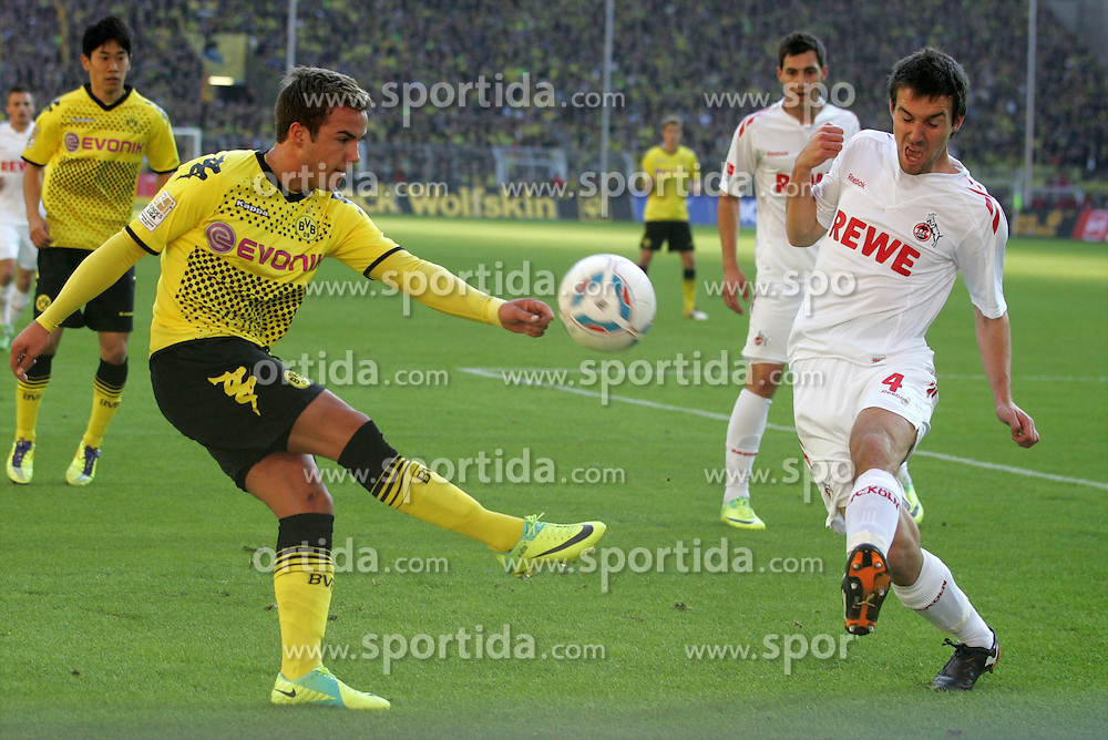 22.10.2011, SIGNAL IDUNA Park Dortmund, Dortmund, GER, 1.FBL, Borussia Dortmund vs 1. FC Köln / Koeln, im Bild Mario Götze (Dortmund #11) gegen Christian Eichner (Koeln #4)...// during the 1.FBL,  Borussia Dortmund vs 1. FC Köln / Koeln on 2011/10/22,  SIGNAL IDUNA Park Dortmund, Dortmund, Germany. EXPA Pictures © 2011, PhotoCredit: EXPA/ nph/  Herbst       ****** out of GER / CRO  / BEL ******