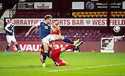 Scotland's Jason Cummings shoots during Scotland Under-21 v FYR Macedonia,  UEFA Under 21 championship qualifier  at Tynecastle, Edinburgh. Photo: David Young<br /> <br />  - &copy; David Young - www.davidyoungphoto.co.uk - email: davidyoungphoto@gmail.com