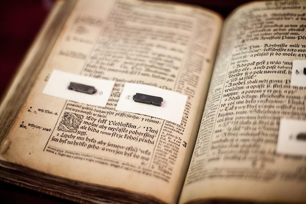 "Copy of ""The Bible of Kralice"", also called Kralice Bible exhibited at the Bible museum in the village of Kralice nad Oslavou. The bible of Kralice was the first complete translation of the Bible from the original languages into the Czech language. Translated by the Unity of the Brethren and printed in the town of Kralice nad Oslavou, the first edition had six volumes and was published between the years 1579 and 1593."