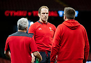 Alun Wyn Jones of Wales<br /> <br /> Photographer Simon King/Replay Images<br /> <br /> Six Nations Round 1 - Wales v Italy -  Captains Run - Friday 31st January 2020 - Principality Stadium - Cardiff<br /> <br /> World Copyright © Replay Images . All rights reserved. info@replayimages.co.uk - http://replayimages.co.uk