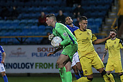 Southport FC Keeper on loan from Fulham Magnus Norman makes a save during the Vanarama National League match between Southport and Eastleigh at the Merseyrail Community Stadium, Southport, United Kingdom on 17 December 2016. Photo by Pete Burns.
