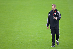 NEWPORT, WALES - Sunday, May 31, 2015: FAW Intermediate teams coach Dave Hughes during the Football Association of Wales' National Coaches Conference 2015 at Dragon Park FAW National Development Centre. (Pic by David Rawcliffe/Propaganda)