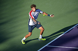 March 29, 2018 - Miami, FL, United States - KEY BISCAYNE, FL - MARCH, 29: Pablo Carreno Busta (ESP) in action during day 11 of the 2018 Miami Open held at the Crandon Park Tennis Center on March 29, 2018 in Key Biscayne, Florida.  Credit: Andrew Patron/Zuma Wire (Credit Image: © Andrew Patron via ZUMA Wire)