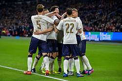 March 28, 2017 - Amsterdam, Netherlands - Italy celebrate a goal during the friendly match between Netherlands and Italy on March 28, 2017 at the Amsterdam ArenA in Amsterdam, Netherlands. (Credit Image: © Andy Astfalck/NurPhoto via ZUMA Press)