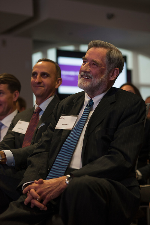 Pittsburgh Foundation  President Max King attends a UPMC expansion press conference.
