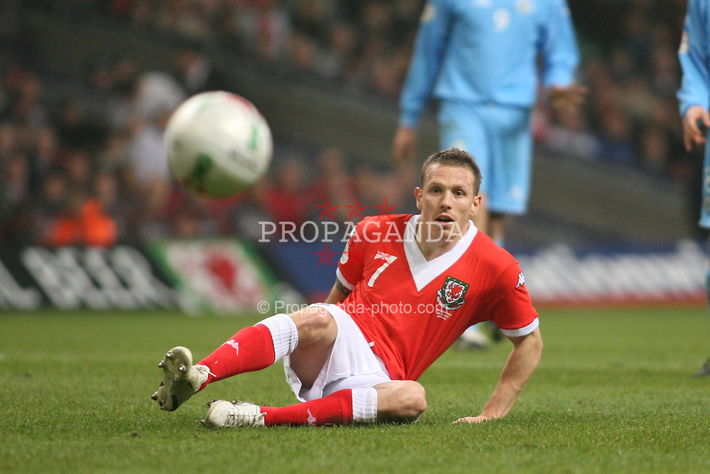 CARDIFF, WALES - Wednesday, March 28, 2007: Wales' Craig Bellamy in action against San Marino during the UEFA European Championship 2008 Qualifying Group D match at the Millennium Stadium. (Pic by Chris Ratcliffe/Propaganda)