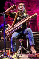 Rizal Abdulhadi performing at the Bali Spirit Festival, Ubud, Bali, Indonesia, 4/4/2015.