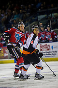 KELOWNA, CANADA - NOVEMBER 5:  Clayton Kirichenko #4 of the Medicine Hat Tigers at the Kelowna Rockets game on November 5, 2016 at Prospera Place in Kelowna, British Columbia, Canada.  (Photo By Cindy Rogers/Nyasa Photography,  *** Local Caption ***