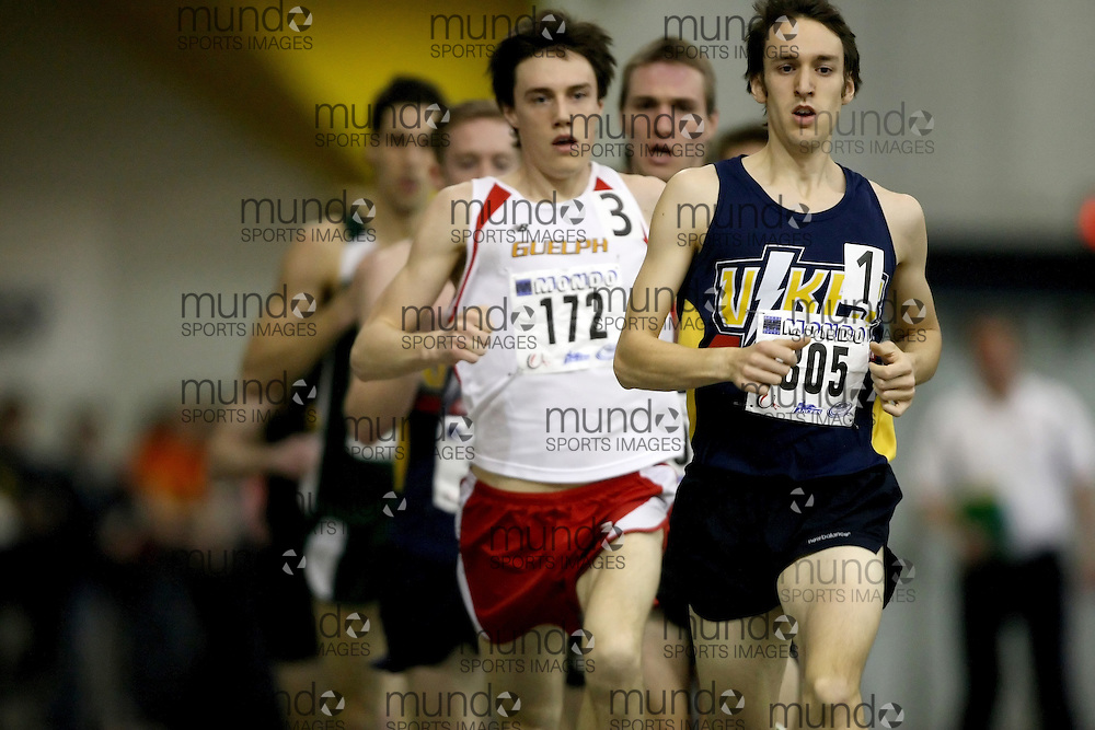 Windsor, Ontario ---14/03/09--- Geoff Martinson of  the University of Victoria competes in the Men's 1500m Final at the CIS track and field championships in Windsor, Ontario, March 14, 2009..Sean Burges Mundo Sport Images