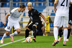 September 20, 2018 - Genk, Belgien - 180920 Leandro Trossard of Genk and Romain Gall of Malmö FF competes for the ball during the Europa League group stage match between Genk and Malmö FF on September 20, 2018 in Genk..Photo: Ludvig Thunman / BILDBYRÃ…N / kod LT / 35538 (Credit Image: © Ludvig Thunman/Bildbyran via ZUMA Press)