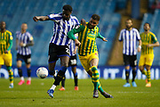 Moses Odubajo of Sheffield Wednesday and Hal Robson-Kanu of West Bromwich Albion during the EFL Sky Bet Championship match between Sheffield Wednesday and West Bromwich Albion at Hillsborough, Sheffield, England on 1 July 2020.