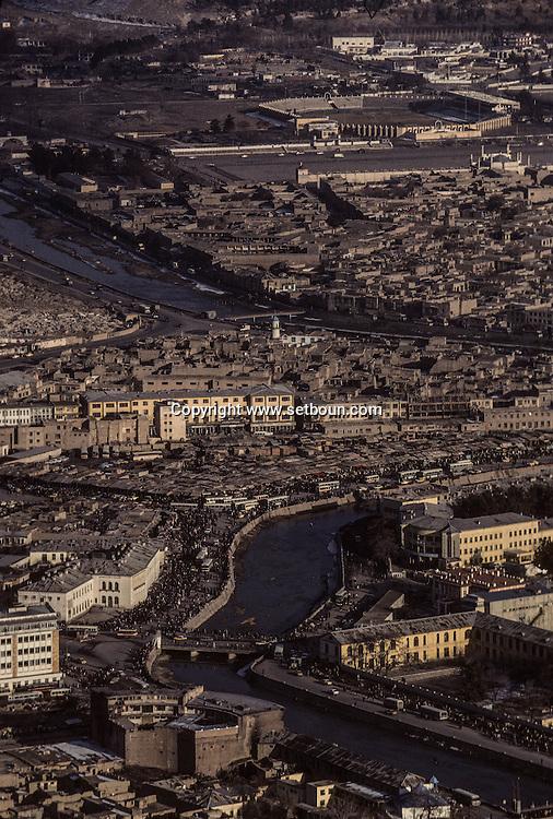 Afghanistan. aerial view of the capital  Kabul  Afghanistan  / vue générale du centre de Kaboul  Kaboul  Afghanistan