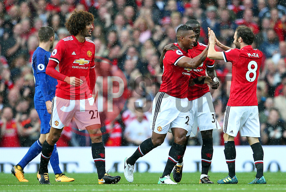 Luis Antonio Valencia of Manchester United celebrates after scoring his sides first goal  - Mandatory by-line: Matt McNulty/JMP - 17/09/2017 - FOOTBALL - Old Trafford - Manchester, England - Manchester United v Everton - Premier League