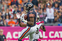 06 October 2013: Wide receiver (17) Alshon Jeffery of the Chicago Bears catches a pass against the New Orleans Saints during the second half of the Saints 26-18 victory over the Bears in an NFL Game at Soldier Field in Chicago, IL.