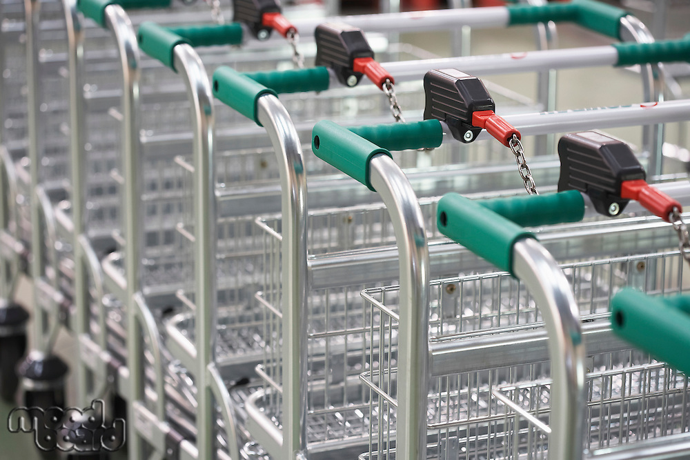 Empty Shopping Carts linked together