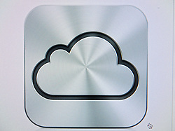 Screenshot of logo of new Apple iCloud cloud computing service