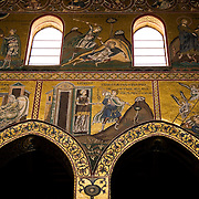 Mosaics inside the Cathedral of Monreale circa 1170, Monreale, Sicily, Italy