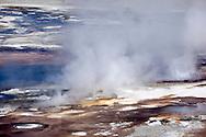 Whirligig Geysers at Norris Geyser Basin, Yellowstone National Park, Wyoming