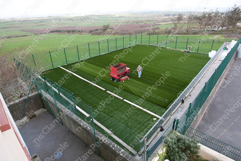 The New All weather pitch in Mullagh National School Mullagh Co.Clare.<br /> Pictured Credit Brian Gavin Press 22