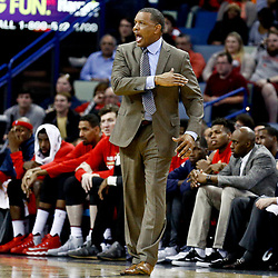 Dec 21, 2016; New Orleans, LA, USA;  New Orleans Pelicans head coach Alvin Gentry reacts to a play during the second half of a game against the Oklahoma City Thunder at the Smoothie King Center. The Thunder defeated the Pelicans 121-110. Mandatory Credit: Derick E. Hingle-USA TODAY Sports