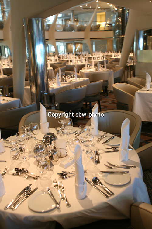 Celebrity Eclipse interior photos..Moonlight Sonata, main dining room..