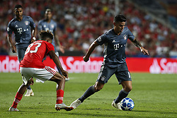 September 19, 2018 - Lisbon, Portugal - James Rodriguez of Bayern Munchen (R) vies for the ball with Gedson Fernandes of Benfica (L)  during Champions League 2018/19 match between SL Benfica vs FC Bayern Munchen, in Lisbon, on September 19, 2018. (Credit Image: © Carlos Palma/NurPhoto/ZUMA Press)