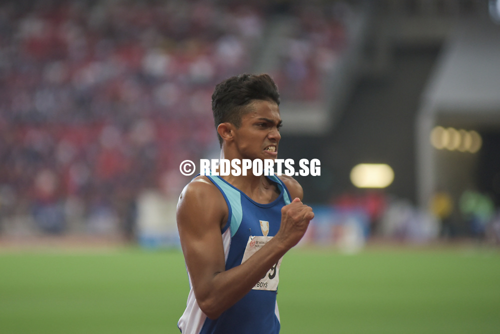 National Stadium, Friday, April 28, 2017 &mdash; In the A Division boys&rsquo; 4 by 100 metres relay final last year, Raffles Institution (RI) edged out Catholic Junior College (CJC) to gold by 0.1 seconds.<br />