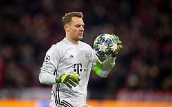 MUNICH, GERMANY - Wednesday, December 11, 2019: Bayern Munich's goalkeeper Manuel Neuer during the final UEFA Champions League Group B match between FC Bayern München and Tottenham Hotspur FC at the Allianz Arena. (Pic by David Rawcliffe/Propaganda)