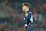 Leeds United midfielder Jordan Stevens (48) during the EFL Sky Bet Championship match between Stoke City and Leeds United at the Bet365 Stadium, Stoke-on-Trent, England on 19 January 2019.