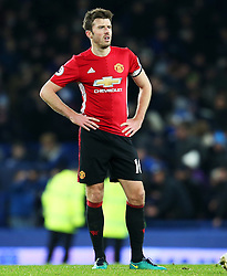 Michael Carrick of Manchester United looks dejected at full time - Mandatory by-line: Matt McNulty/JMP - 04/12/2016 - FOOTBALL - Goodison Park - Liverpool, England - Everton v Manchester United - Premier League