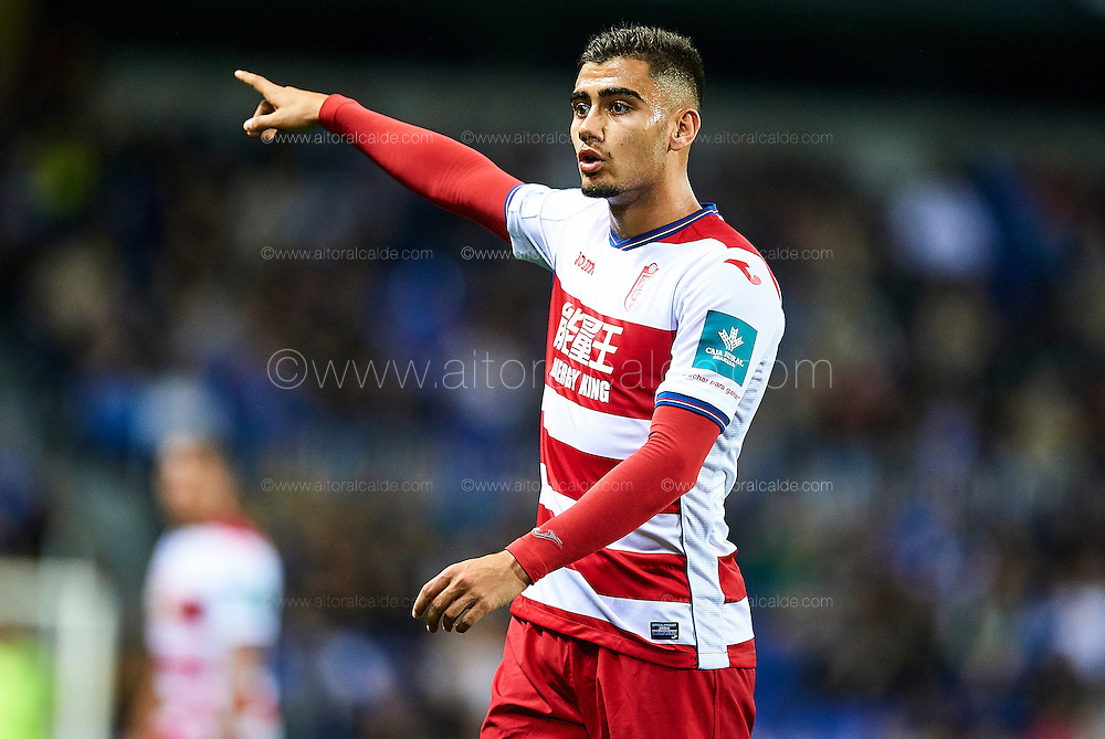 MALAGA, SPAIN - DECEMBER 09:  Andreas Pereira of Granada CF looks on during La Liga match between Malaga CF and Granada CF at La Rosaleda Stadium December 9, 2016 in Malaga, Spain.  (Photo by Aitor Alcalde Colomer/Getty Images)
