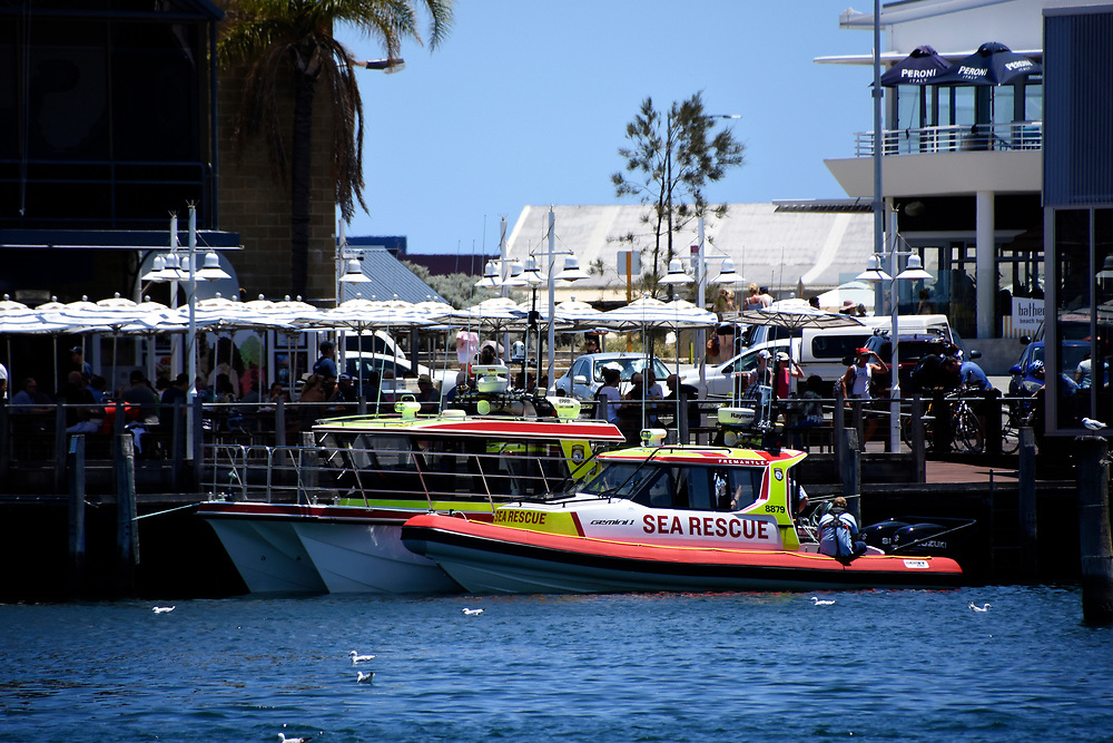 Sea Rescue Boat moored in Freemantle