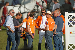 Dubbeldam Jeroen, (NED), Ehrens Rob, (NED), Van Asten Leopold, (NED)<br /> Team completion and 2nd individual qualifier<br /> FEI European Championships - Aachen 2015<br /> © Hippo Foto - Dirk Caremans<br /> 20/08/15