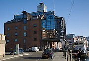 Waterfront House, old dockside industrial building converted to offices, Wet Dock, Ipswich, England
