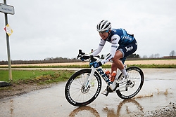 Tayler Wiles (USA) makes a splash at Omloop van het Hageland 2019, a 132.6 km road race from Tienen to Tielt-Winge, Belgium on March 3, 2019. Photo by Sean Robinson/velofocus.com