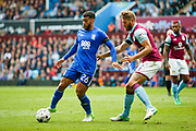 Birmingham City  midfielder David Davis (26) watches by Aston Villa defender Nathan Baker (2)  during the EFL Sky Bet Championship match between Aston Villa and Birmingham City at Villa Park, Birmingham, England on 23 April 2017. Photo by Simon Davies.