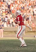 PALO ALTO, CA - NOVEMBER 1976:  Guy Benjamin #7 of Stanford University plays in a game in November 1976 at Stanford Stadium in Palo Alto, California.