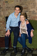 19/04/2012. London, UK. Former member of pop-rock bands Busted and Son of Dork James Bourne and writer and composer Elliot Davis introduce the cast of their original British musical LOSERVILLE. Premiering at the West Yorkshire Playhouse, Leeds. Picture shows: Aaron Sidwell (Michael)and Eliza Hope Bennett (Holly).