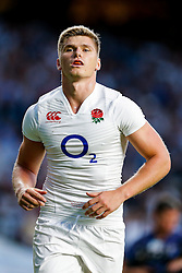 England Fly-Half Owen Farrell looks on - Mandatory byline: Rogan Thomson/JMP - 07966 386802 - 15/08/2015 - RUGBY UNION - Twickenham Stadium - London, England - England v France - QBE Internationals 2015.