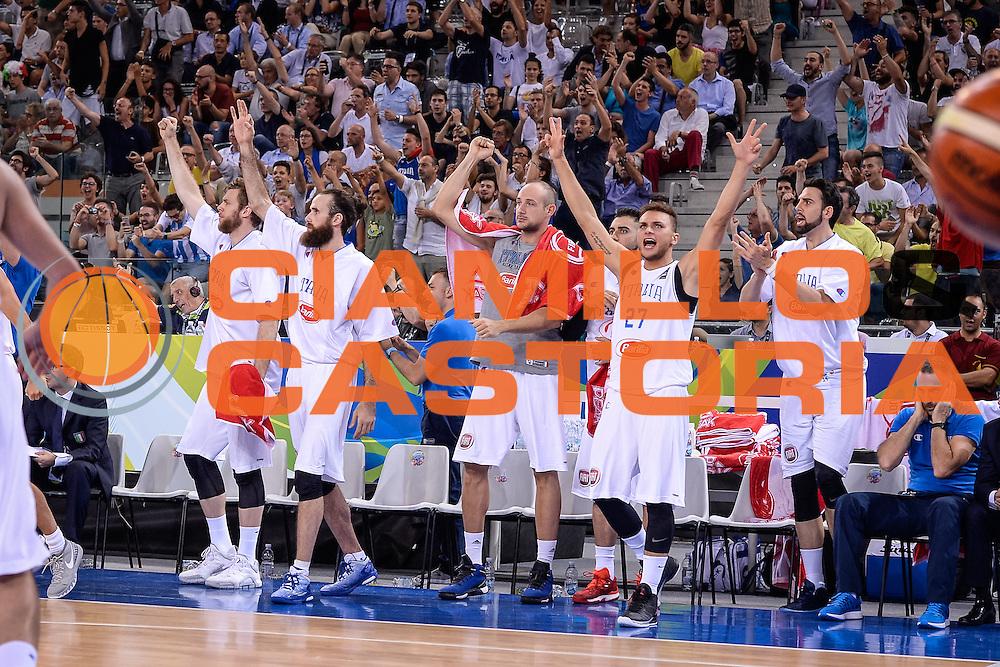 DESCRIZIONE: Torino FIBA Olympic Qualifying Tournament Italia - Croazia<br /> GIOCATORE: Stefano Tonut Luigi Datome<br /> CATEGORIA: Nazionale Italiana Italia Maschile Senior<br /> GARA: FIBA Olympic Qualifying Tournament Italia - Croazia<br /> DATA: 05/07/2016<br /> AUTORE: Agenzia Ciamillo-Castoria