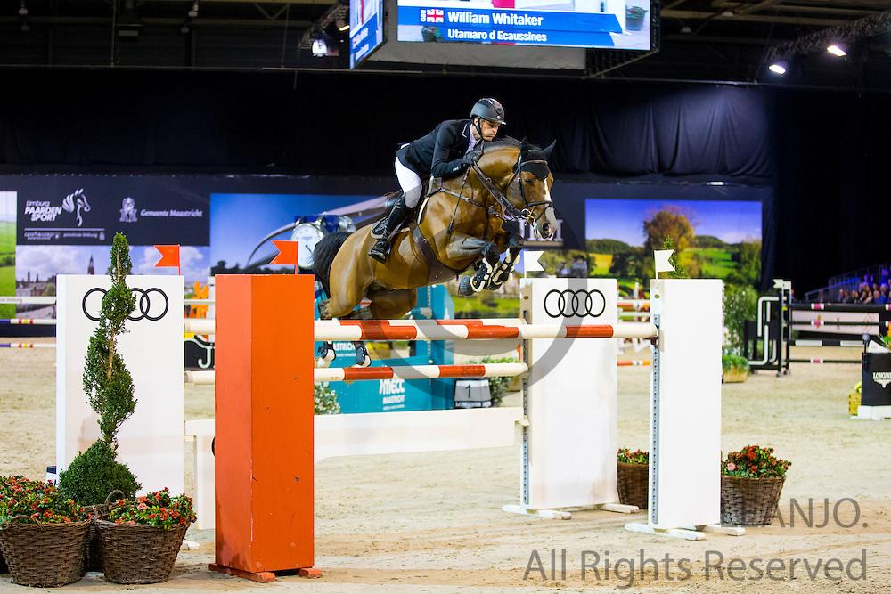 William Whitaker - Utamaro d Ecaussines <br /> Jumping Indoor Maastricht 2016<br /> &copy; DigiShots