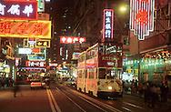 Hong Kong. tramways in Wanchai (Victoria island)         / tramways  dans le quartier de Wanchai         / R00092/15    L0007245  /  P0001849