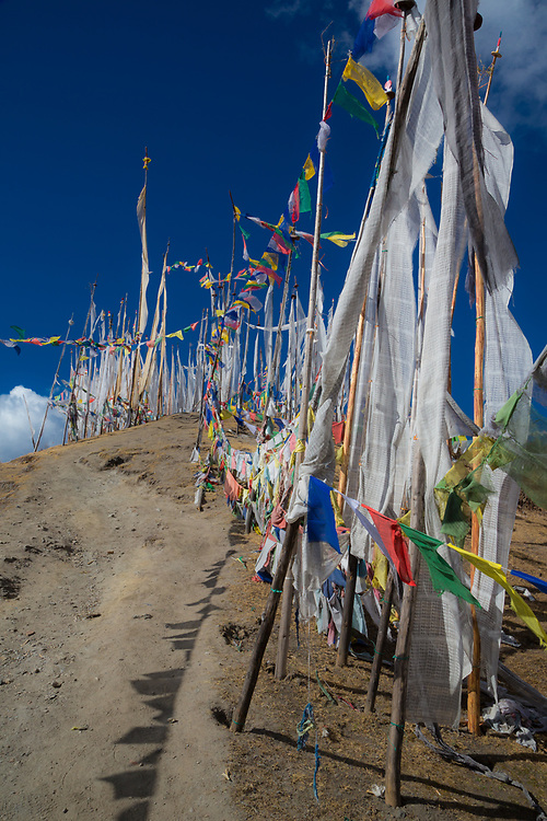 Hill top pass on the way to Ha, Bhutan.