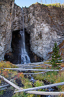 Fairy Falls drops 197 feet off Madison Plateau and is an easy hike to get to from the Midway Geyser Basin area.