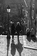 France. Paris. Montmartre. 18th district.  The stairs of Montmarte hill / Les escaliers de Montmartre