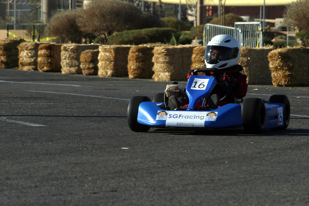 Chloe St. George 6  drive here  go kart  on the International Karting Federation race in Primm Nevada  on Saturday march 3 .2007.....Chloe is a young girl the driving in a go kart competitions she is one of unique girls that compete in this sport...Chloe start to race 6 month a go..