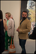 GRAYSON PERRY; EVGENY LEBEDEV, Opening of Frieze art Fair. London. 14 October 2014