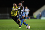 Brighton & Hove Albion's winger Kazenga LuaLua (30) during the EFL Cup match between Oxford United and Brighton and Hove Albion at the Kassam Stadium, Oxford, England on 23 August 2016.