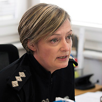 Search for 15 year old Kathleen Harkin…..10.10.16<br />Police Scotland Local Area Commander for Perth & Kinross Chief Inspector Maggie Pettigrew at a media briefing<br />Picture by Graeme Hart.<br />Copyright Perthshire Picture Agency<br />Tel: 01738 623350  Mobile: 07990 594431