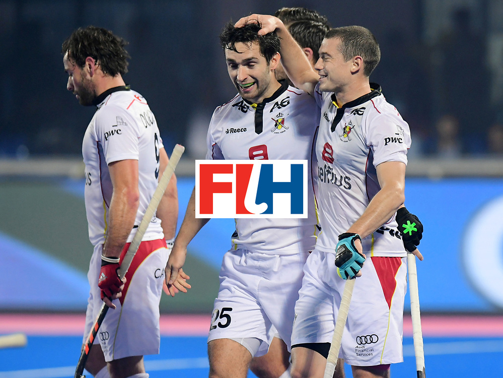 Odisha Men's Hockey World League Final Bhubaneswar 2017<br /> Match id:12<br /> Belgium v Netherlands<br /> Foto: Belgium scored a goal<br /> COPYRIGHT WORLDSPORTPICS FRANK UIJLENBROEK